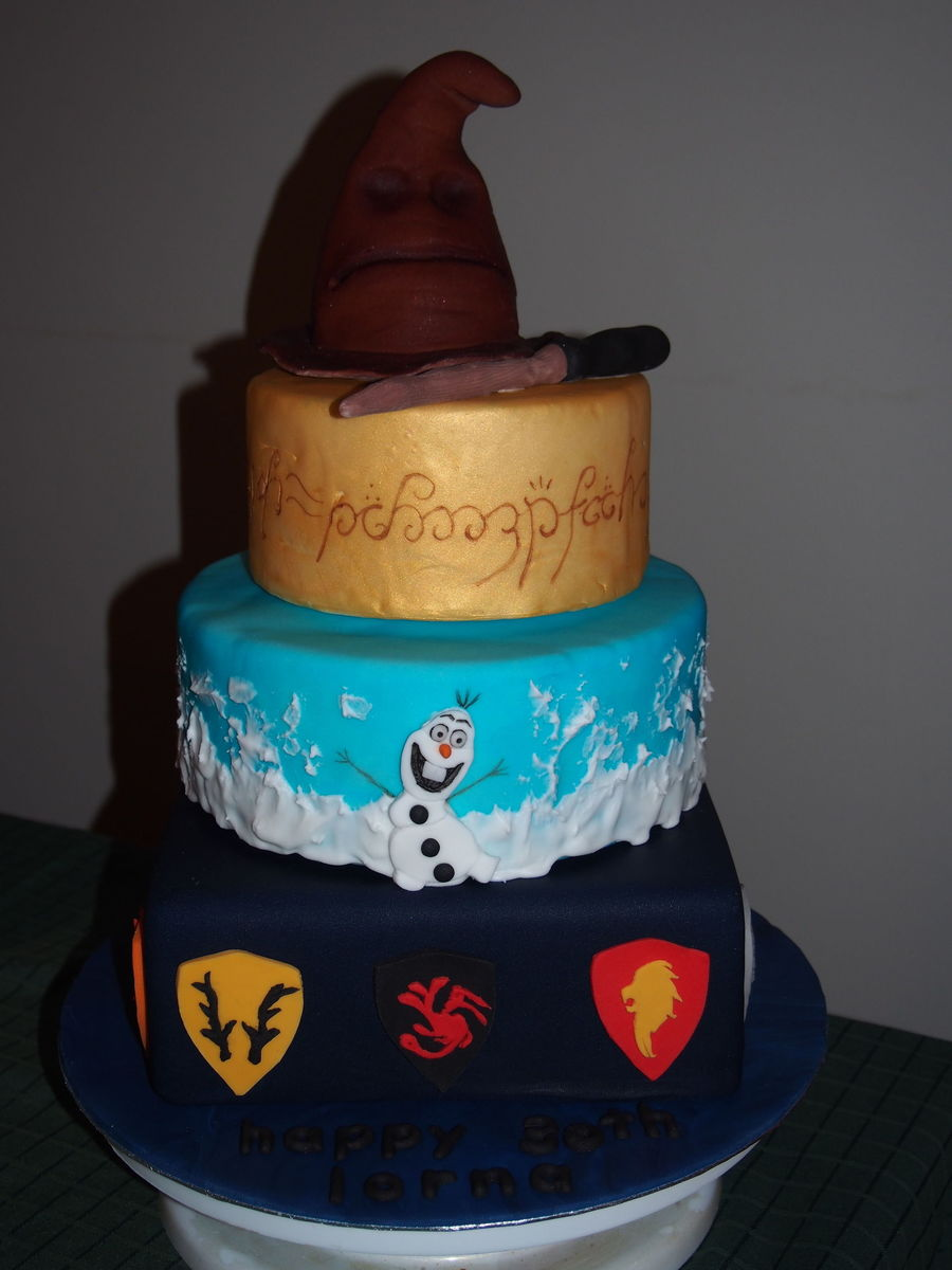 Prime 30Th Birthday Cake For My Sister Who Requested A Harry Potter Lord Birthday Cards Printable Giouspongecafe Filternl