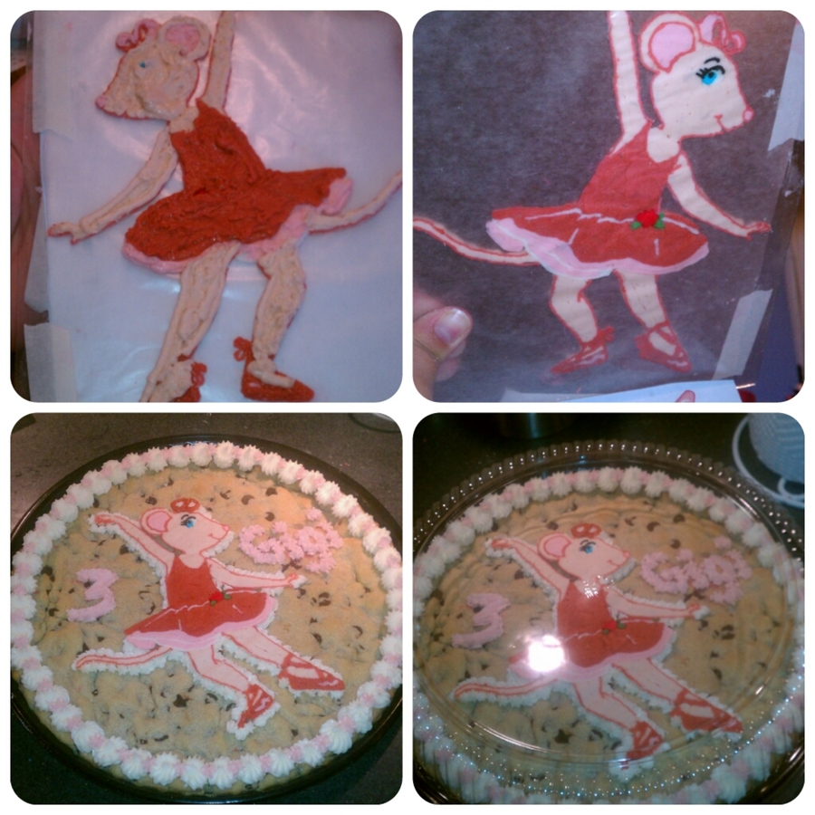 Angelina The Ballerina, Fbct On A Cookie on Cake Central