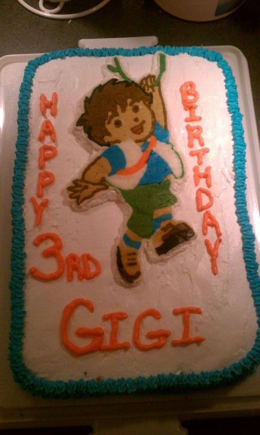 Go, Diego Go - Gigi's 3Rd Bday Cake on Cake Central
