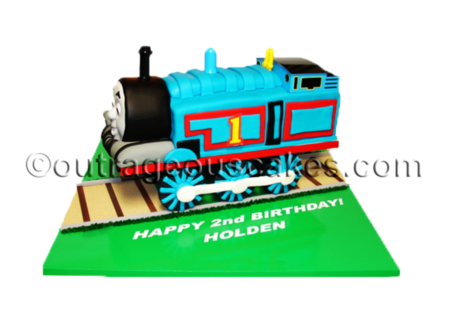 3D Thomas The Train Cake on Cake Central