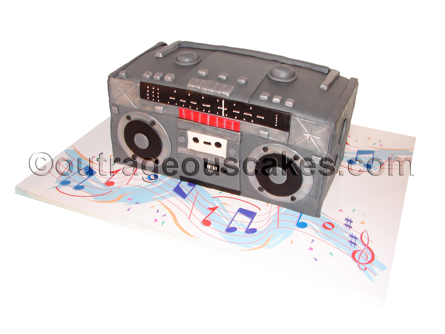 Old School Boombox Cake on Cake Central
