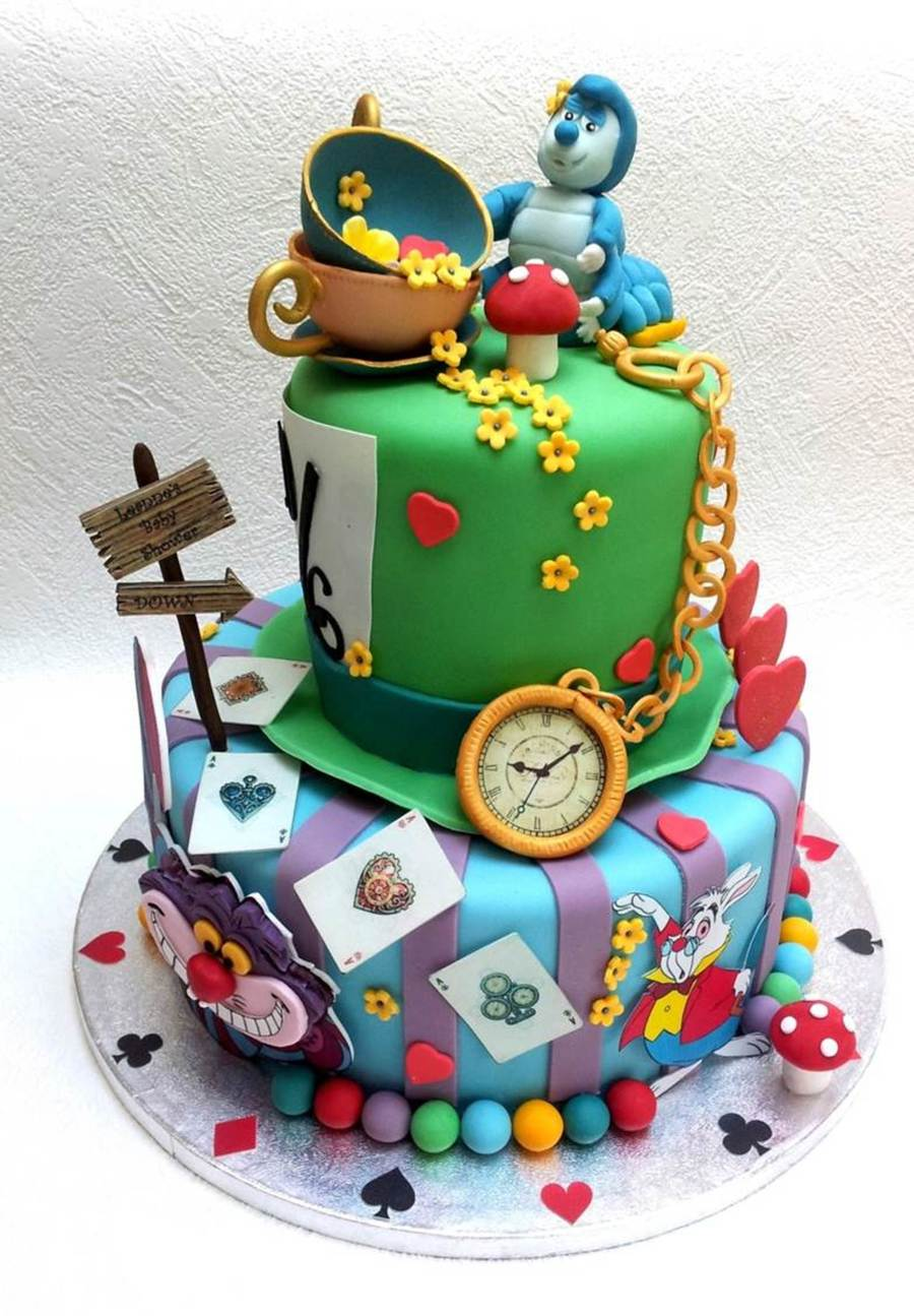 A Mad Hatter Tea Party Inspired Cake For A Baby Shower Cakecentral