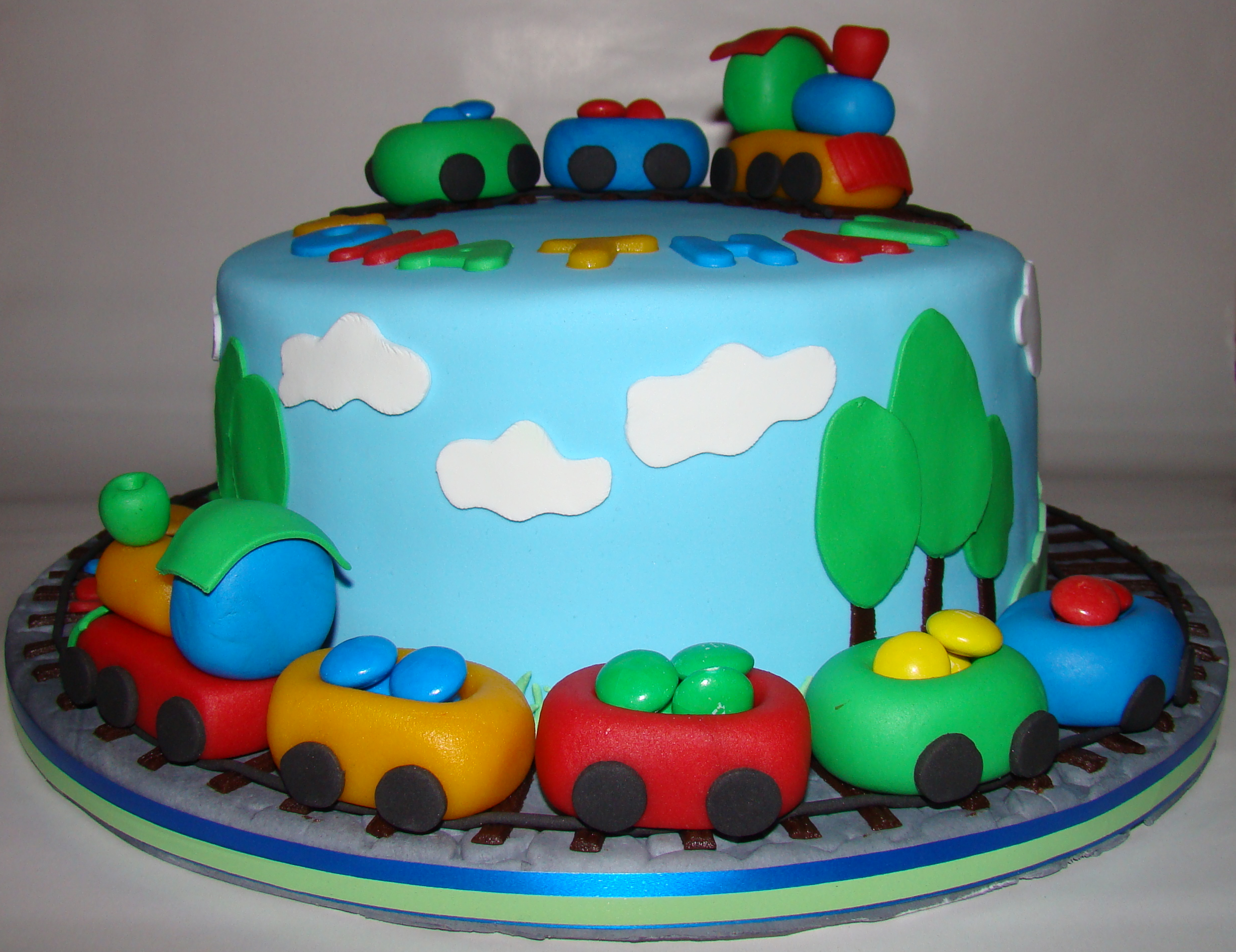Traincake For A Two Years Old Boy CakeCentralcom