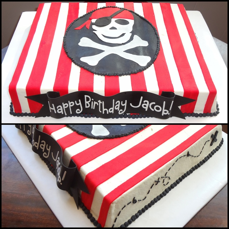 pirate themed sheet cake. Black Bedroom Furniture Sets. Home Design Ideas