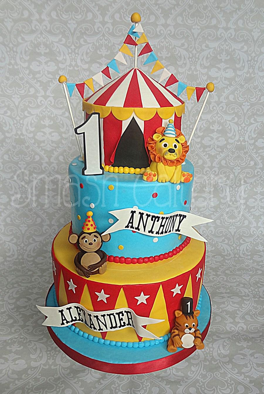 Circus Themed Birthday Cake