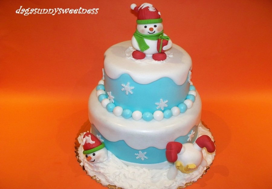 Snowmans:-) on Cake Central