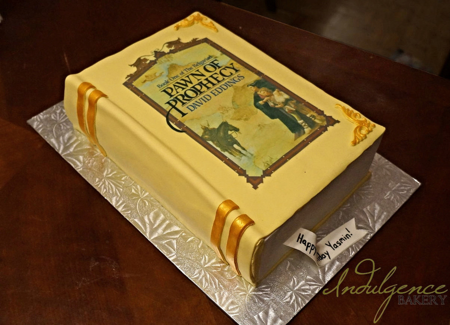 Pawn Of Prophecy Fantasy Novel Closed Book Cake