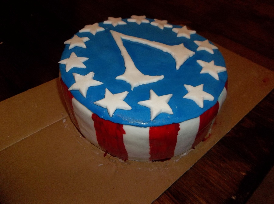 Assassins Creed 3 Flag Theme Cake on Cake Central