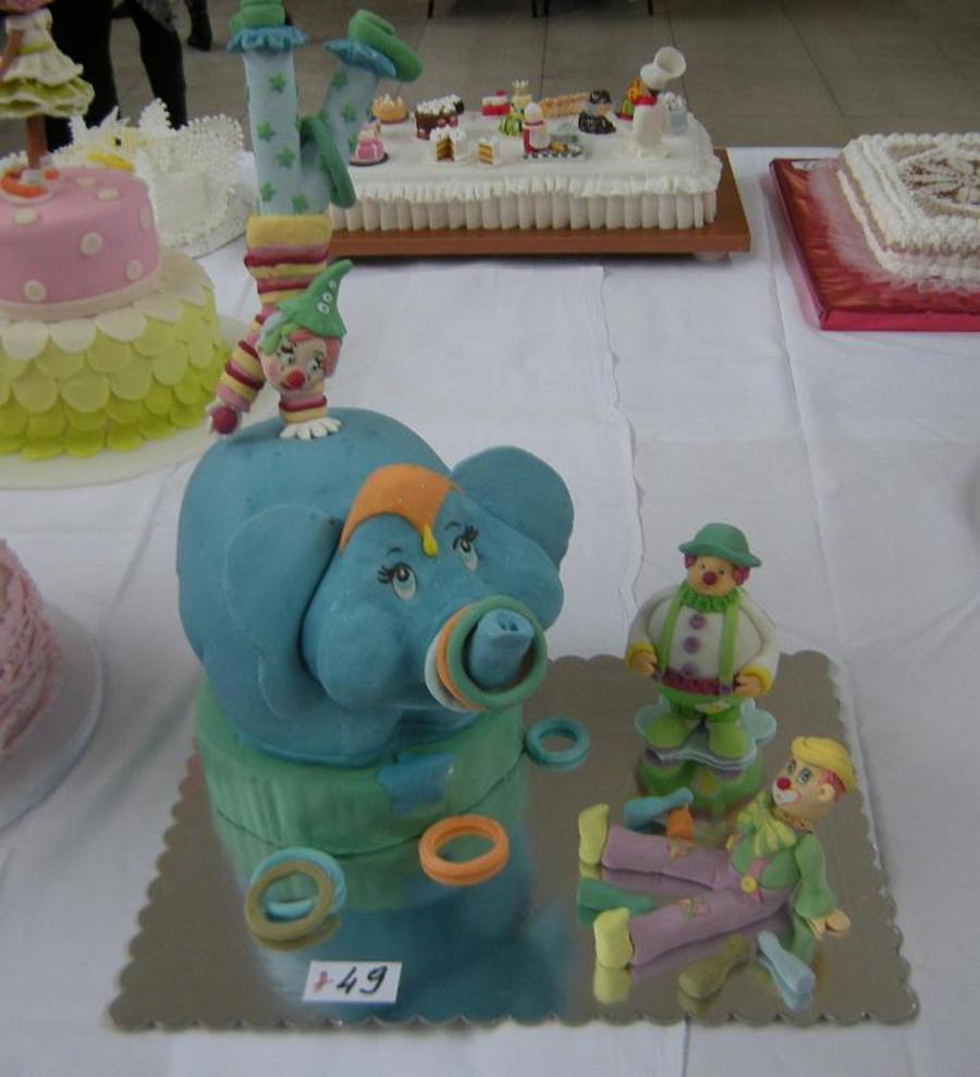 Circus Clown Elephant on Cake Central