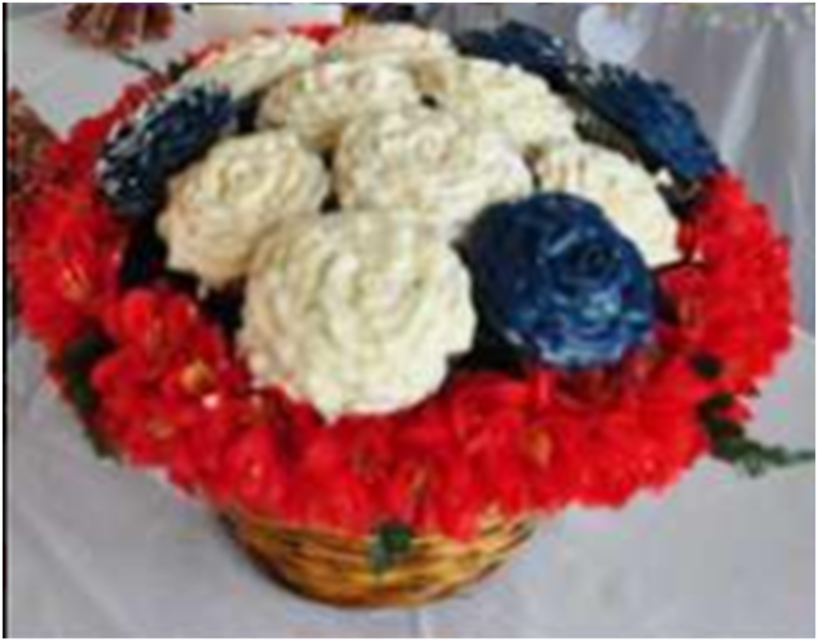 Red White And Bluw Cupcake Bouquet on Cake Central