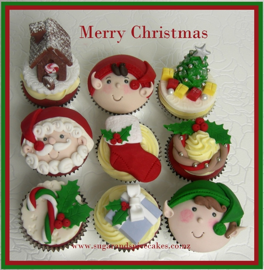 Christmas Cupcake Toppers By Www.sugarandspicecakes.co.nz ...