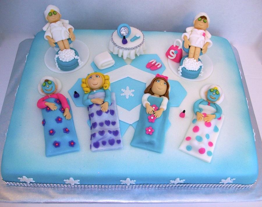 Sleepover Cake Spa Party Winter Wonderland Cake Cakecentral