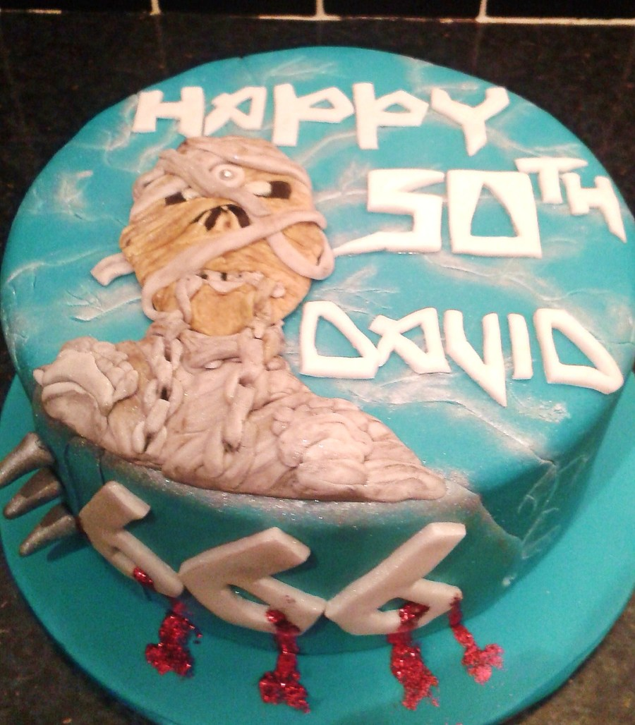 Greensborough Cake Decorating Trading Hours : Iron Maiden Themed Cake - CakeCentral.com