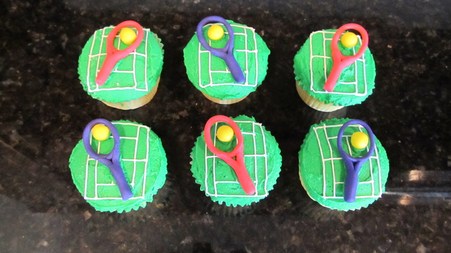 Tennis Cupcakes on Cake Central