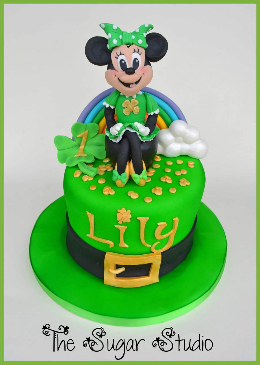 Minnie Mouse St Patricks Day Themed Cake Cakecentral Com