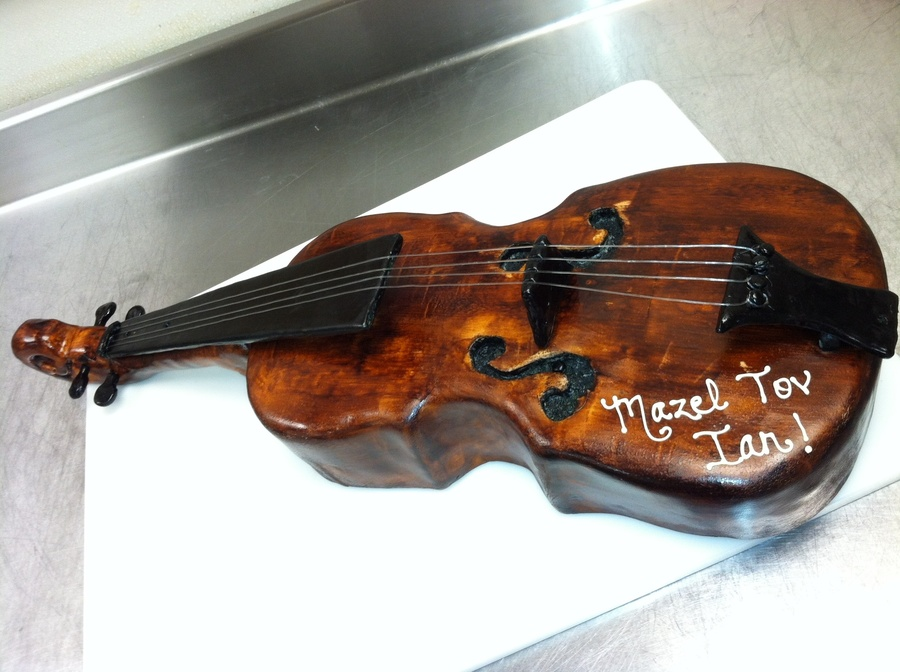 Cello Cake For A Bar Mitzvah on Cake Central