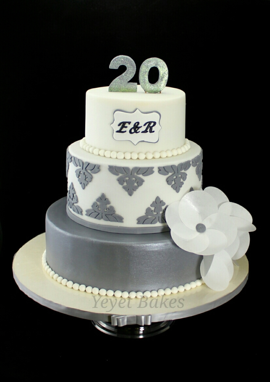20th wedding anniversary cake i made this is my gift for a dear couple celebrating their. Black Bedroom Furniture Sets. Home Design Ideas