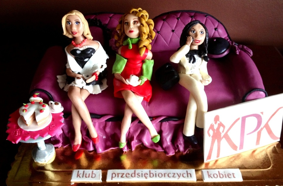 Ladies On The Sofa Cake on Cake Central