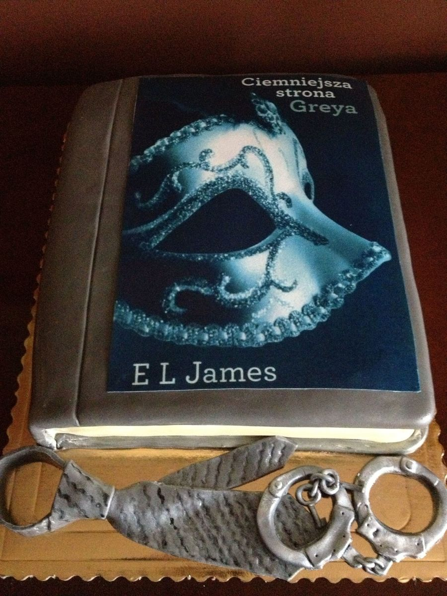 Book Cake- Fifty Shades. Darker. on Cake Central