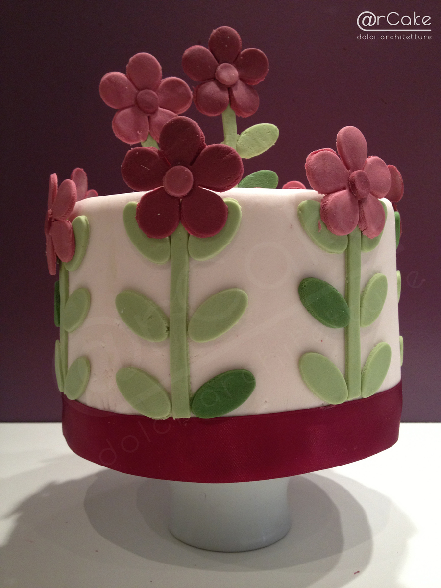 Geometric Flowers Cake on Cake Central