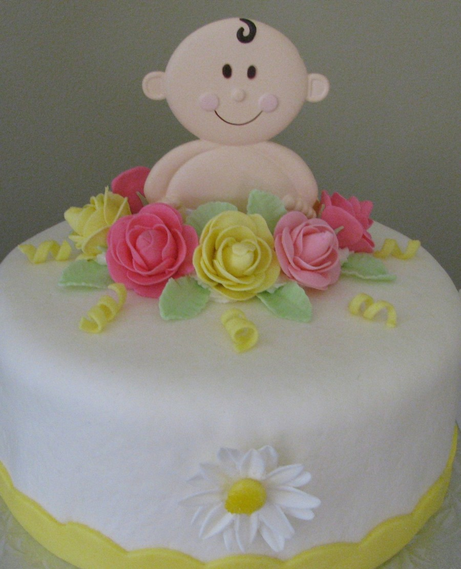 Wilton Baby Centerpiece Shower Cake on Cake Central