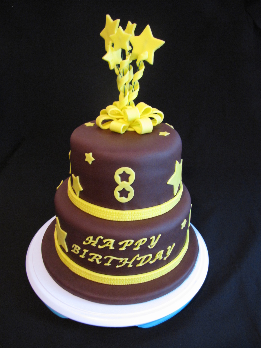 Super 8Th Birthday Cake Chocolate Cake With Chocolate Buttercream And Funny Birthday Cards Online Inifodamsfinfo