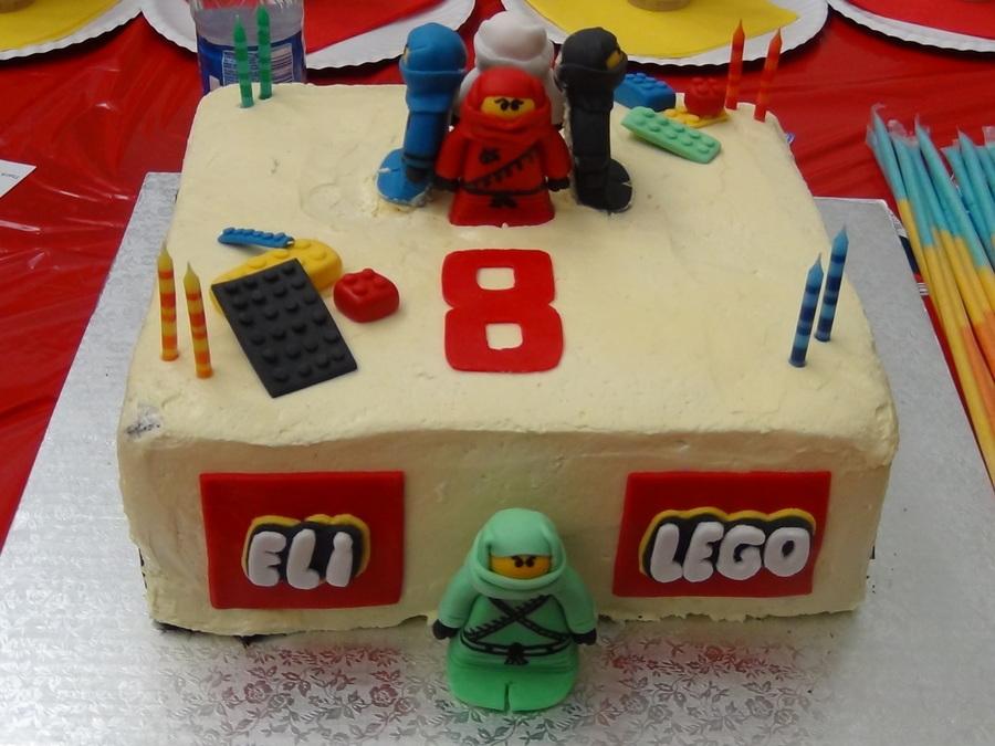 Lego ninjago birthday cake with ninjago figurines lego - Lego ninjago logo ...
