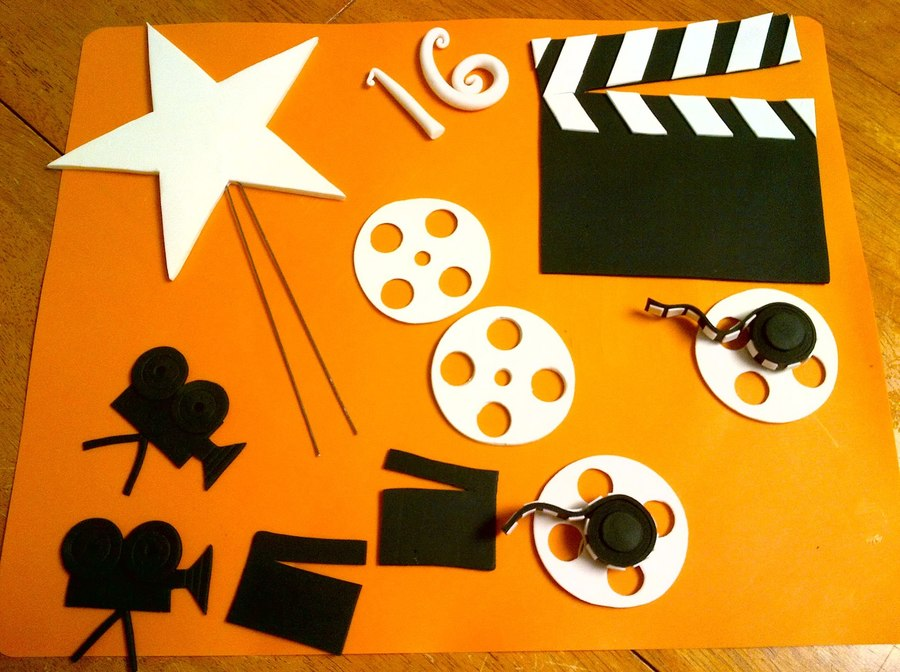 Sweet 16 Hollywood Theme Cake Decorations CakeCentralcom