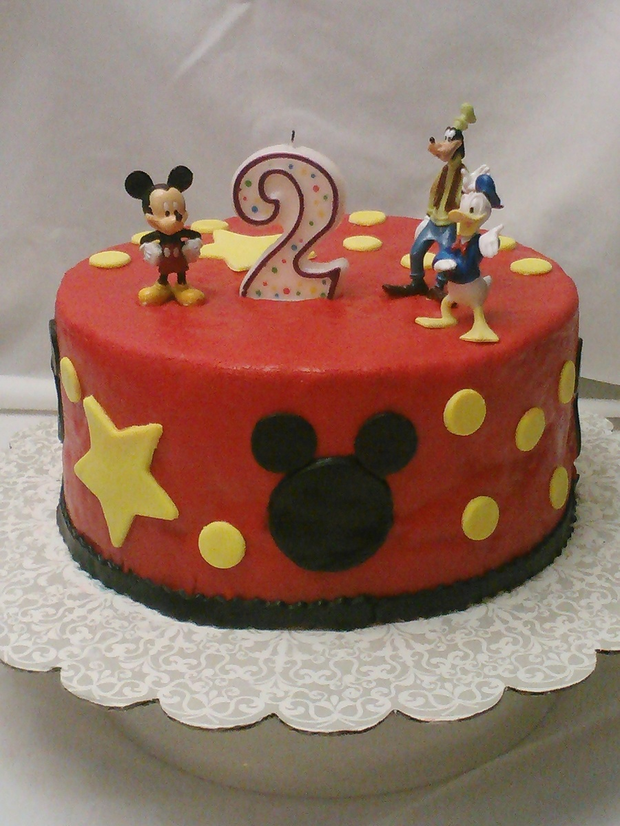 Mickey Mouse And Friends 2nd Birthday Cake Cakecentral