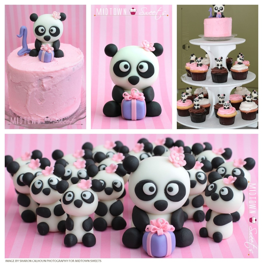 1st Birthday Panda Cupcakes And Smash Cake Cakecentral Com