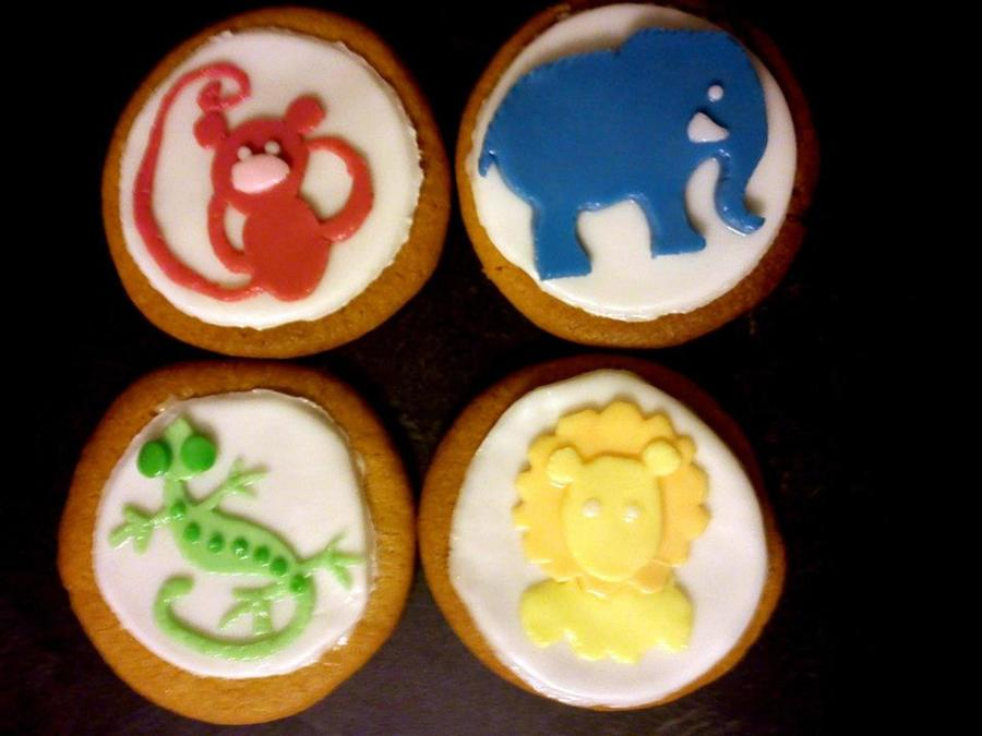 Cookies Inspired By The Wall Decals On My Nephews Bedroom I Just Thought They Would Be Adorable For A Baby Shower  on Cake Central