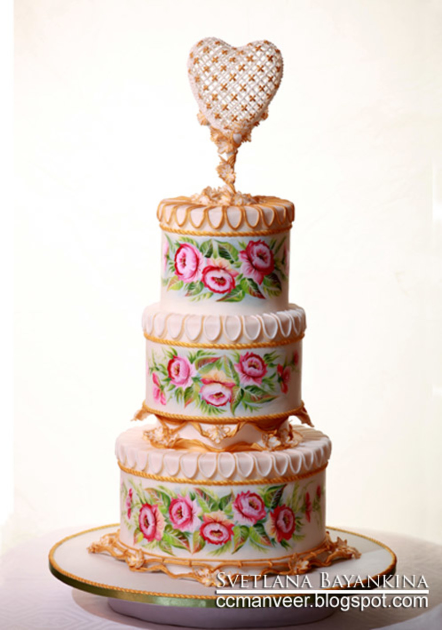 painted wedding cakes uk wedding cake flowers and painted with royal 18106