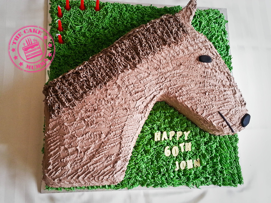Its A Horse Of Course Chocolate Cake Filled With Milk Chocolate Ganache And Covered In Buttercream on Cake Central