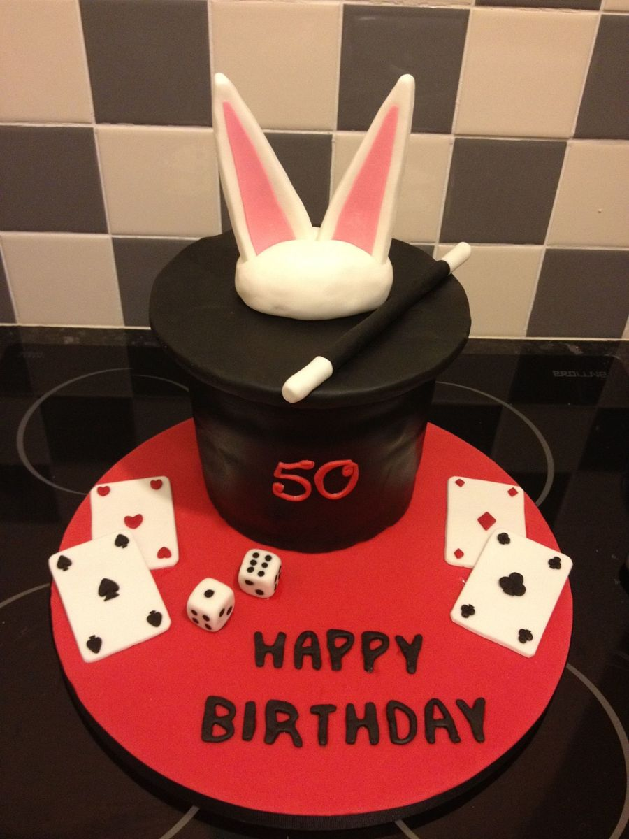 50Th Birthday Magician Cake on Cake Central