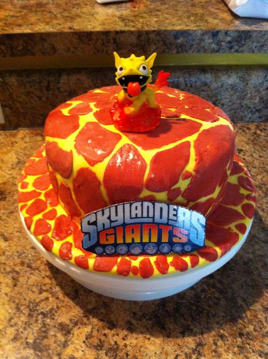 Skylander Molten Hot Dog Cake Cakecentral Com