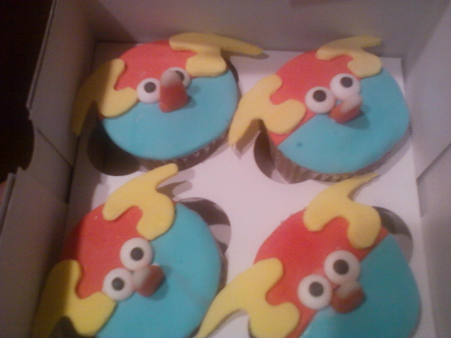 Space Angry Birds Cupcakes on Cake Central