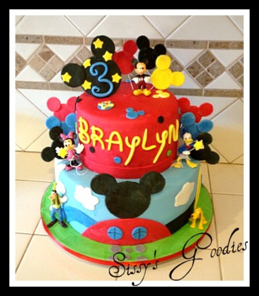 Mickey Mouse Clubhouse Cake! on Cake Central
