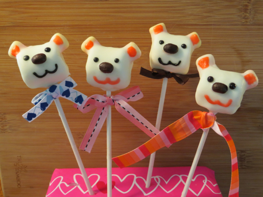 Valentine's Marshmallow Bear Pop By Sparked Ideas on Cake Central