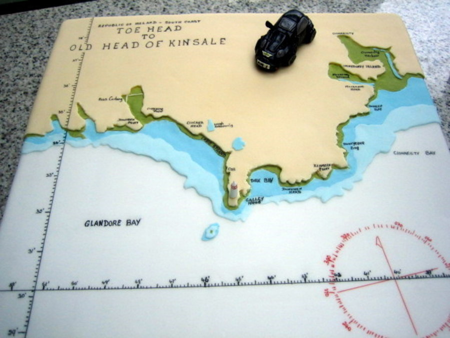 This Cake Was An Admiralty Chart For Someone Who Liked To Sail Around This Area It Illustrates All The Information Mariners Require For S on Cake Central