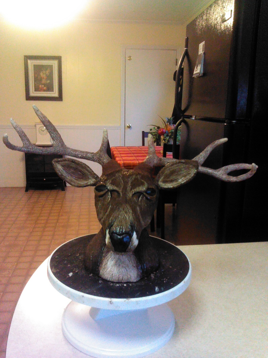 My Deer Head Made With Rkt And Modeling Chocolate on Cake Central