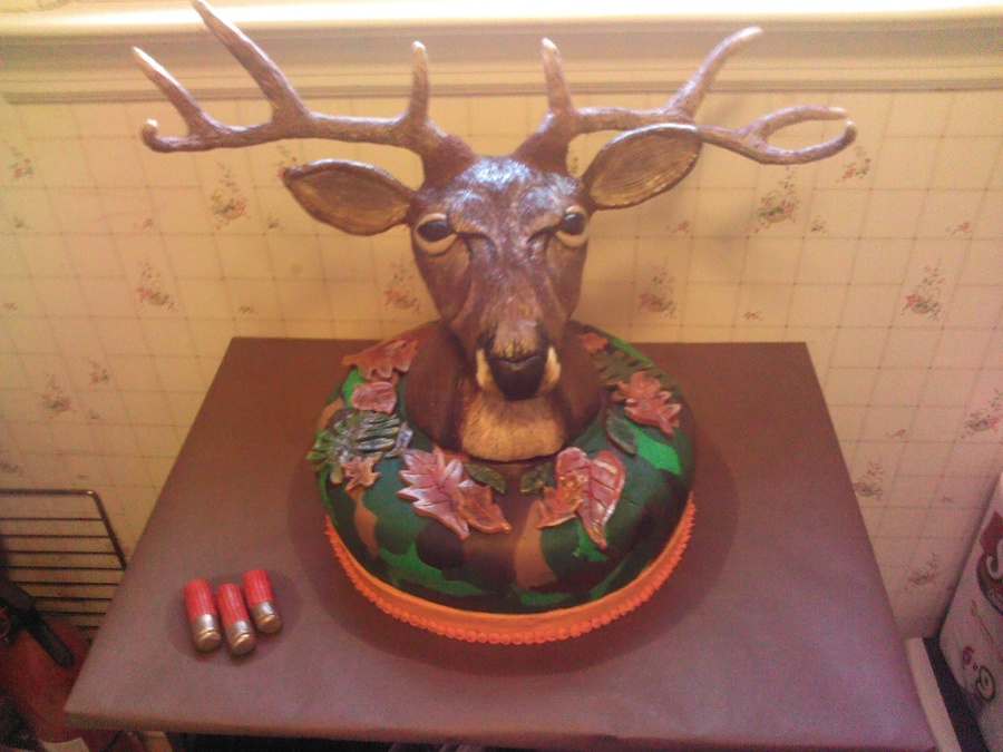 Completed Deer Headcamo Cake on Cake Central