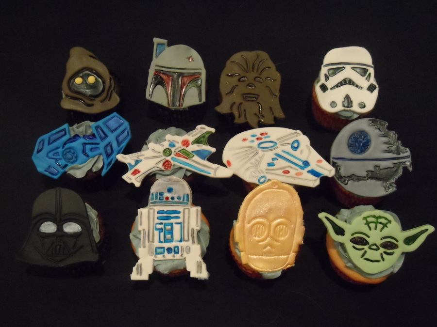 Star Wars Cupcakes Made For My Sons May The Fourth Be With You Lock In on Cake Central
