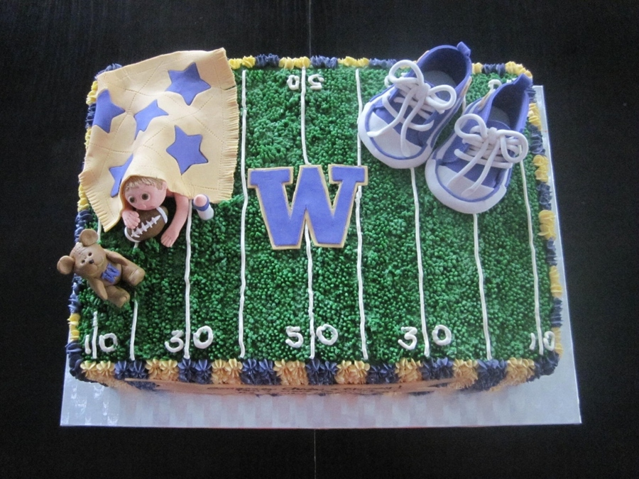 Not Your Traditional Baby Shower Cake But The Client Wanted To Reflect The Fact That The Parents To Be Were Expecting A New Little Huskies... on Cake Central
