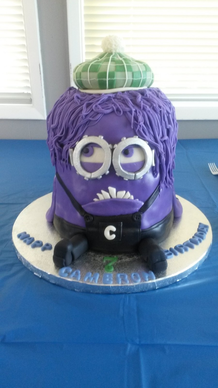 At His Request A Purple Minion Specifically Evil Kevin Although I