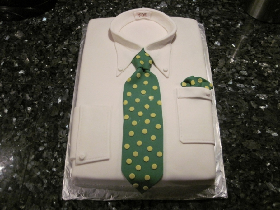 First Attempt At A Shirt Cake Isnt That Just The Ugliest Tie  on Cake Central
