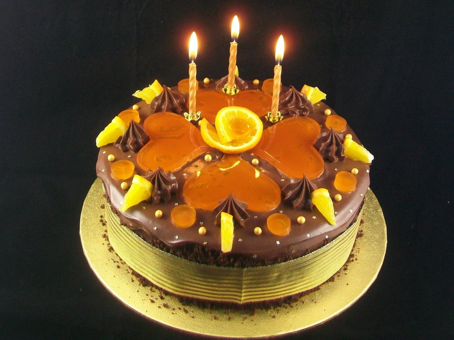 Chocolate Amp Orange Birthday Celebration Cake on Cake Central