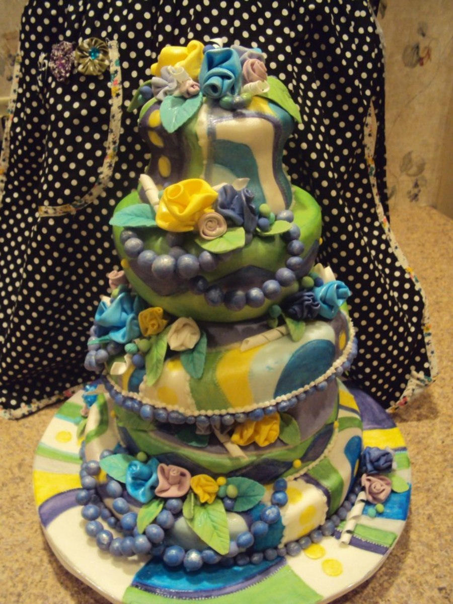 Garden Topsy Turvy  on Cake Central
