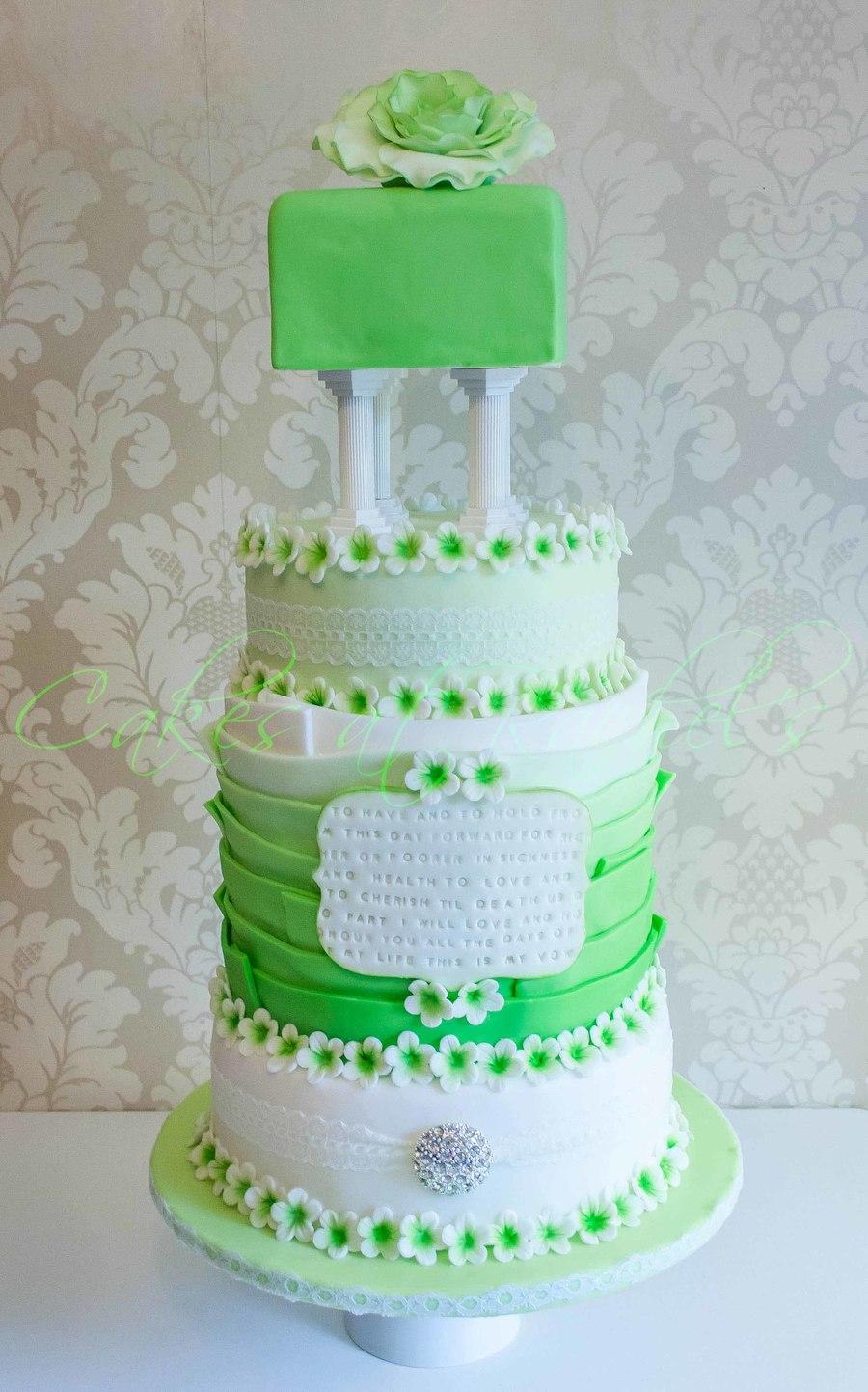 Emerald Wedding Cake Cakecentral Com