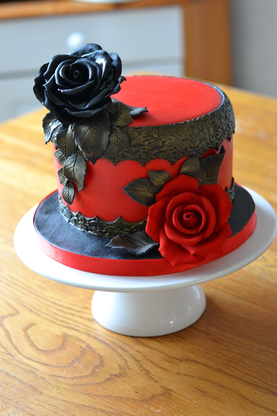Marvelous Goth Inspired Birthday Cake Cakecentral Com Funny Birthday Cards Online Aeocydamsfinfo