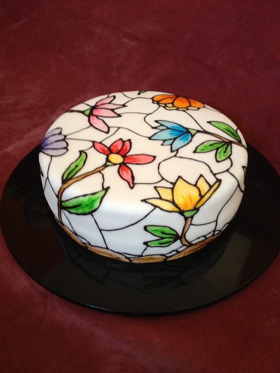 Stained Glass Cake  on Cake Central